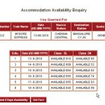 Indian Railways Seat Availability and Train Fare Enquiry