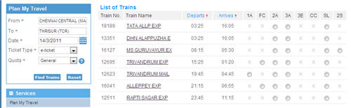 IRCTC Travel Plan
