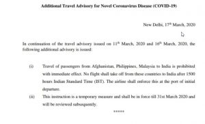 Travel from Malaysia, Philippines and Afghanistan temporarily prohibited